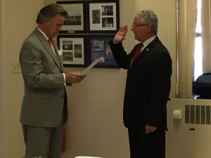 tim swearing in
