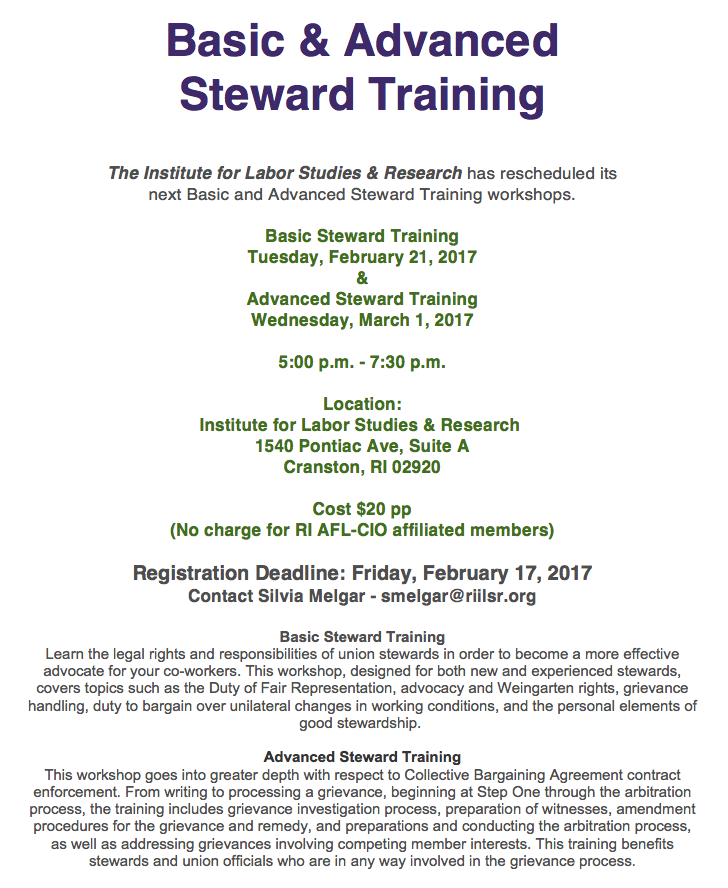 StewardTraining2017