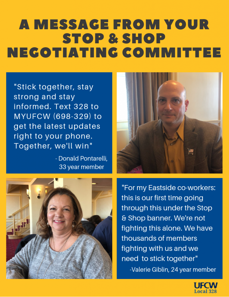 A message from your stop and shop negotiating committee 2