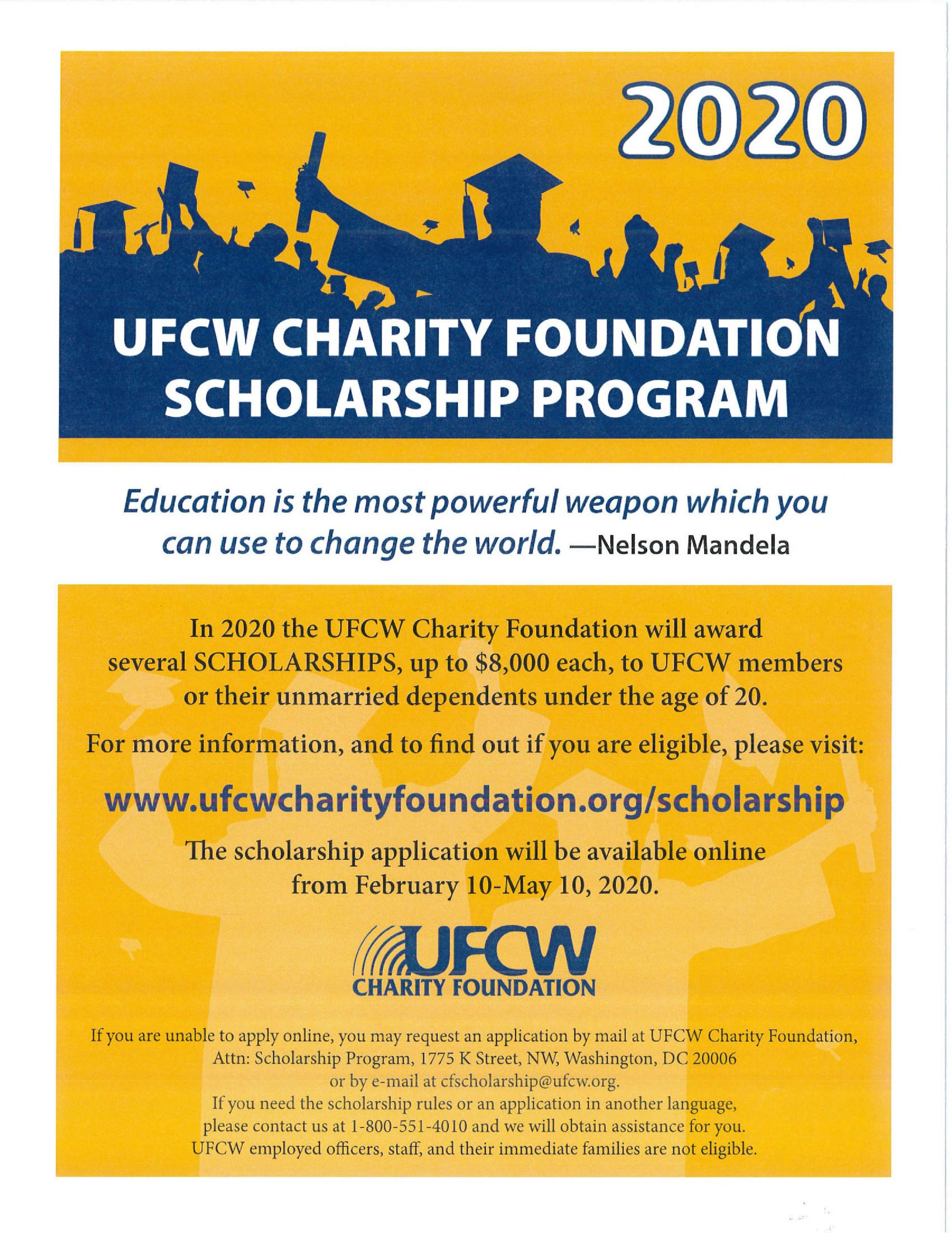 UFCW Charity Foundation Scholarship Program English-page-001